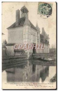 Saint Benedict of valve Old Postcard The channel and the door of the & # 39en...