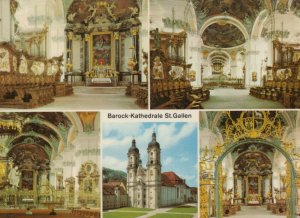 Switzerland Postcard - St Gall - The Baroque Cathedral   RR8462