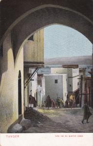 TANGER, Morocco, 1900-1910's; Une Rue Du Quartier Arabe