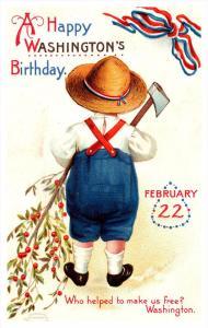 13124  Clapsaddle Washington's Birthday