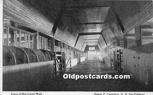 Old Vintage Shaker Post Card Interior of Barn Central Walk E Canterbury, New ...
