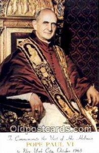 religion postcard postcards Pope Paul VI Unused
