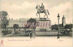 Postcard Old Place bookstore Monument Louis XIV