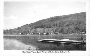 Cuba New York Clear View Lake Real Photo Antique Postcard K67281