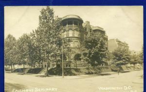 Washington DC Fairmont Seminary real photo Postcard RPPC