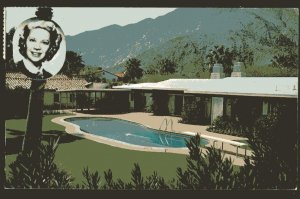 California PALM SPRINGS Home of Dinah Shore with Pool - pm1961 - Chrome