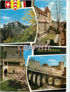 Modern Postcard Neuchatel 5296 the castle and ramparts