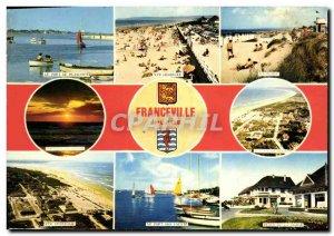 Modern Postcard Franceville Plage