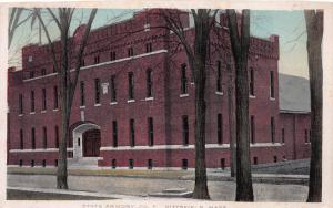 State Armory, Co. F., Pittsfield, Massachusetts, Early Postcard, Used in 1913