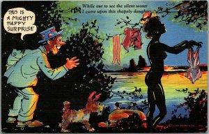 Vintage 1940s RAY WALTER Comic Postcard SHADOW COMICS C-149 Curteich Linen
