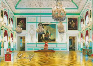 POSTAL 62652 : El palacio grande. Sala del Trono. Peterchof. Rusia