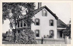 Michigan Dearborn Sally Jordan Boarding House Of Menlo Park As Restored At Gr...