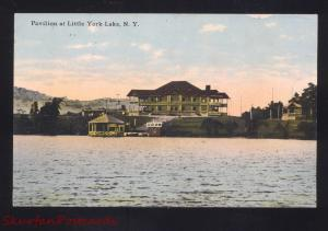 YORK LAKE NEW YORK LITTLE YORK PAVILION ANTIQUE VINTAGE
