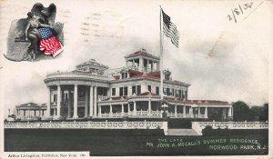 John McCall's Summer Residence, Norwood Park, N.J., Postcard, Used in 1906