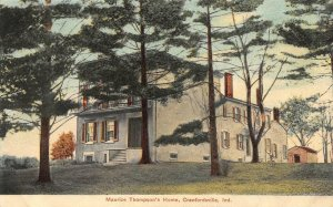 CRAWFORDSVILLE, Indiana IN   MAURICE THOMPSON'S HOME    ca1910's Postcard