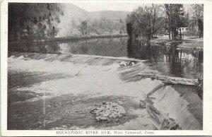 Housatonic River Dam West Cornwall CT c1920 A.M. Simon Postcard F73 *as is