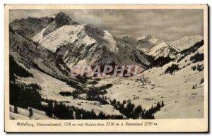 Postcard Old Mittellecg Kleinwalsectal Mit Widdecstein Bacenkopf