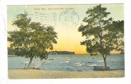 Dane Street Park, The Beach, Beverly, Massachusetts,  PU-1910