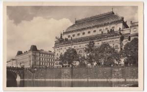 Praha, Narodni Divadlo- Prague, National Theatre, RP Unposted, c 1950's