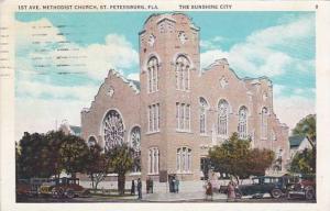 Florida Saint Petersburg 1st Avenue Methodist Church The Sunshine City 1934