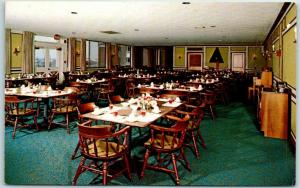 Rockford, Illinois Postcard Wesley Willows Retirement Residence Dining Room