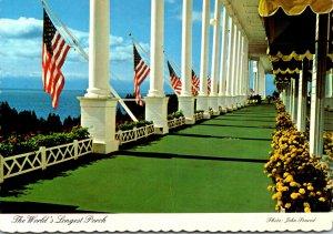Michigan Historic Mackinac Island The Grand Hotel Veranda The Wolrd's Lo...