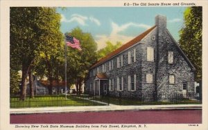 The Old Senate House And Grounds Showing New York State Museum Building From ...