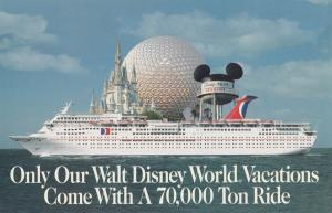 CARNIVAL Cruise Line WaltDisneyworld Vacations, Orlando , Florida , 70-80s
