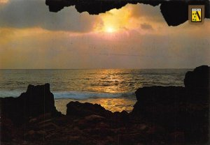 Spain Denia Alicante Amanecer en les Rotes Sunrise Sea Waves Postcard
