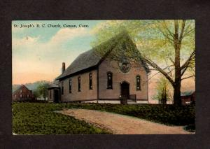 CT St Joseph's Catholic Church Canaan Conn Connecticut Postcard 1917