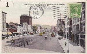 Pennsylvania Reading Penn Square Looking East 1932
