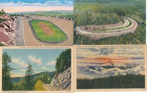 (4 cards) Clingman's Dome - Great Smoky Mountains TN Tennessee (or N.C.) - Linen