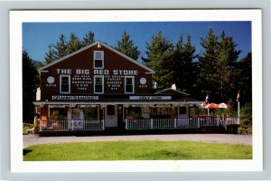 Twin Mountain NH- New Hampshire, The Big Red Store, Market, Chrome Postcard