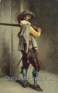 J.L. Ernist Meissonier - A Musketeer Art Postcards Post Cards Old Vintage Ant...