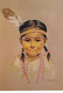 AS: MOUNTAIN FAWN, Canadian Eskimo child, Painted by Dorothy Oxborough, 50-70s