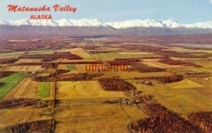 MATANUSKA VALLEY, AK farming area City of Palmer and Talkeetna Mts in background