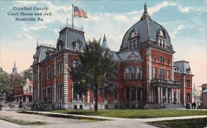 Pennsylvania Meadville Crawford County Court House And Jail