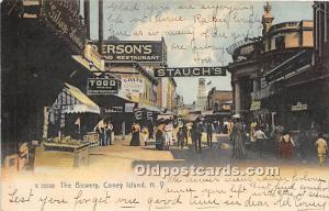 Amusement Park Postcard Post Card The Bowery Coney Island, New York, NY, USA ...