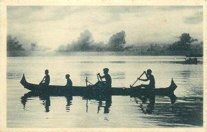 Northwestern Pacific Ocean Caroline Islands the Carolines natives canoe boat