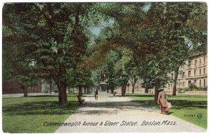 Boston, Mass, Commonwealth Avenue & Glover Statue