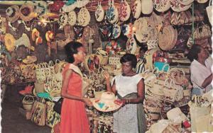 JAMAICA; Straw Section, Victoria Crafts Market, Kingston, West Indies, 40-60s