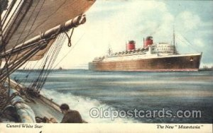 Mauretania Cunard Ship 1939 crease left top edge to right bottom edge, postal...