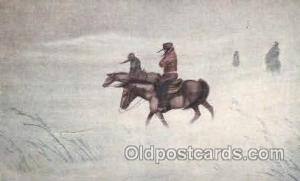 Blizzard on the Plains Western Cowboy, Cowgirl Postcard Postcards  Blizzard o...