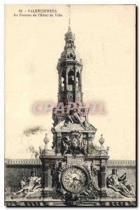 Old Postcard Valenciennes Pediment of the Hotel de Ville
