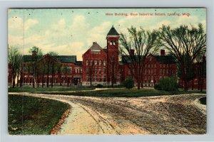 Lansing MI-Michigan, Main Building Boys Industrial School Vintage c1909 Postcard
