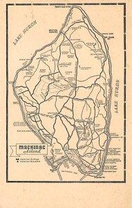 Maps Mackinac Island Michigan, USA Unused