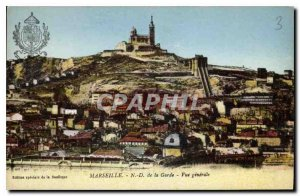 Old Postcard Marseille N D of the general view Guard