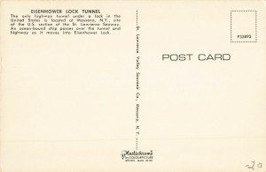 Postcard Eisenhower Lock Tunnel Massena New York