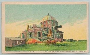 Stanford University California~Library Ruins~c1906 Postcard