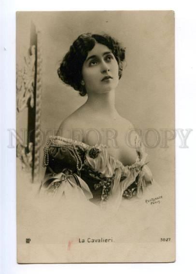 175401 La CAVALIERI Italian OPERA SINGER old PHOTO Reutlinger